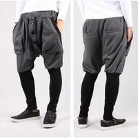 2014  jogger pants,Mixed colors harem feet pants,stitching men's banana dance pants,low drop crotch sweatpants for men,123,28-35