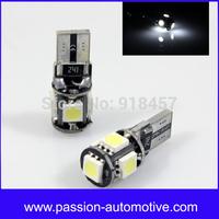 2x T10 5SMD LED Bulb Light Canbus for AUDI A2 A3 8L 8P A4 B5 B6 B7 8H A6 4B 4F A8 D2