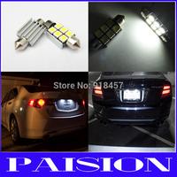 2X39mm 6SMD CANBUS LED Number License Plate Light Bulb No Error for VW Multivan Passat 3B 3C Phaeton White