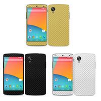 3pcs/lot  Full body Carbon Fiber style Skin Sticker for LG D820 Google Nexus 5