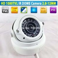 Vandalproof Video Surveillance Security Metal IR Dome CCTV Camera Waterproof with Varifocal Zoom 2.8-12MM Lens + OSD MENU