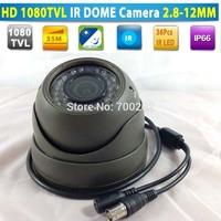 Promotion!!! Video Surveillance Vandalproof Metal IR Dome CCTV Camera Waterproof with Varifocal 2.8-12MM Lens + OSD MENU