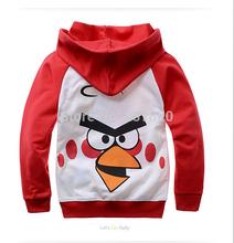 New 2014 children's cartoon casual bird  boys girls long-sleeved hoodies dress kids sweatshirt outerwear roupa infantil Clothes(China (Mainland))