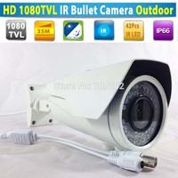 HD 1080TVL 42IR 50M Waterproof Vandalproof Video Security CCTV IR  Bullet Camera Varifocal Zoom 2.8-12MM Lens + OSD MENU