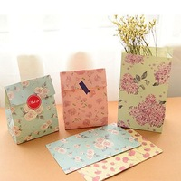 Flower printing  paper bags Gift Bags, Party, Lolly,Favour, Wedding, Packaging  24pcs/lot 13x23cm