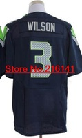 Elite Stitched American Football Jerseys Seattle Football Club #3 Russell Wilson Jerseys, Size 40-60, Accept Dropping Shipping.