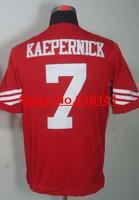 Elite Stitched American Football Jerseys San Francisco #7 Colin Kaepernick Jerseys, Size 40-60, Accept Dropping Shipping.