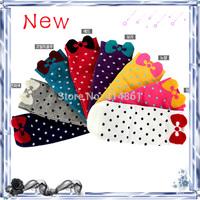 New 2014 Bow socks good quality cotton women socks Summer Socks for women Candy socks. (20 pieces = 10 pairs)