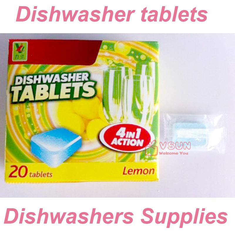 Free Shipping Dishwasher tablets Dishwashing tablets Household Dishwashers Supplies 20Piece/Boxed Retail Wholesale(China (Mainland))