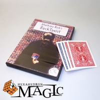 Back Twist with gimmick bicycle Cards by Mathieu Bich  / close-up street card magic tricks products toys wholesale free shipping