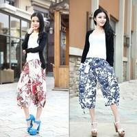 Women's Harem Pants Print Flower Trousers Casual Hip-Hop Pants Plus Size New 2014 Summer