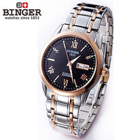 Luxury Business unique Mechanical fully-automatic men self-wind steel calendar date cool automatic watch man rose gold watches