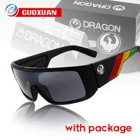 New Sport Model Dragon Sunglasses Men ORBIT Rectangle Coating Sunglass Women Eye Glasses oculos de sol with Box