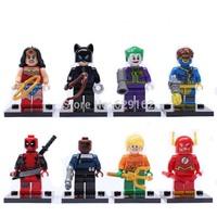 Super heroes 2014 New Big Sale Promotion Best Children Gift Baby Toys 8Pcs/lot SY178 Plastic Building Block Set, No Original Box