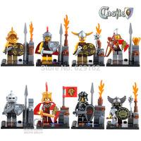 8Pcs Super Heroes The Avengers Medieval Castle Series Rome Action Figure Minifigures Children Toys Compatible, No Original Box