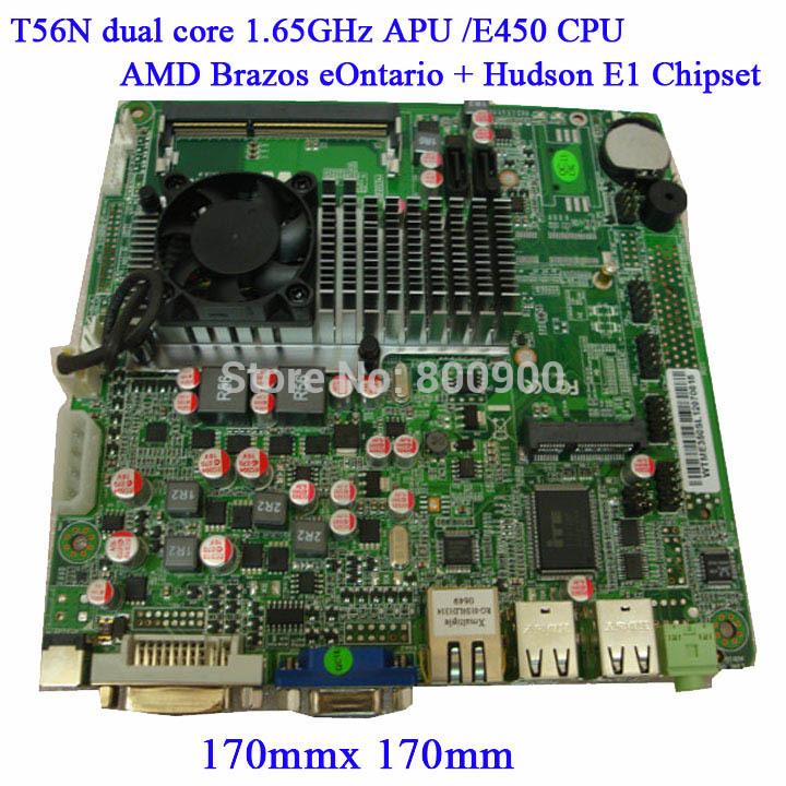 AMD APU E450 T56N Dual Core 1.65G slim MINI ITX motherboard 3G LVDS COM(China (Mainland))