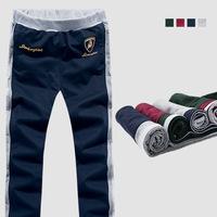 plus size 5xl 2014 new sport knit soccer mens joggers sport calca masculinas jogging baggy bandana black pantalones hombre pants
