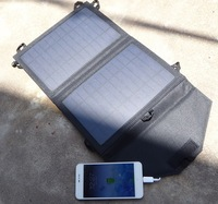 High Quality 7W Portable Solar Charger For Mobile Phone Mono Solar Panel+Foldable Dual USB Battery Charger Bag Free Shipping