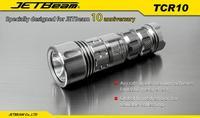 Free shipping JETBeam TCR10 Cree XM-L2 LED 4-Mode 680 Lumens valuable collecting Flashlight (1 x CR123A / 1 x RCR123)