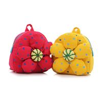 Baby school bag cartoon bag child double-shoulder canvas bag portable bag