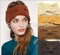 Wholesale and Retail Europe style knitted headband wide crochet headband- Handmade tenia braid headband assorted color 9cm