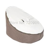 Free shipping new born baby beanbag chair,baby feeding chair, baby sleeping sofa bean bag beds - Brown / white