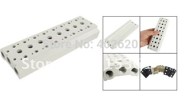 Free Shipping Ceramic Block Manifold Solenoid Pneumatic Control Valve Base 18 Stations, 18 way manifold for 4V series soldnoid(China (Mainland))