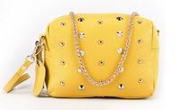 2014 Summer Handbags Women Genuine Leather Shoulder Bags Brand Rivet Bag Ladies Purses 6 Colors  BH8076+Free Shipping