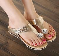 Women's Sandals Summer woman shoes Beach Casual sandals Lady Slippers Women Sandals Flip Flops women Rhinestone shoes C204