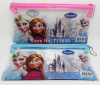 20pcs PVC Transparent Frozen Pencil case & pen bag & frozen stationery Wholesale Hot Kids Gift Favor