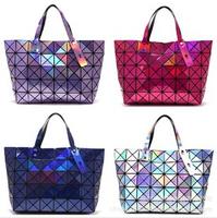 2014 New Geometry Hologram fold Clutch Handbag Straps Purse hand  Bag IT BAG
