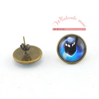 Free shipping 100pairs/lot=200pcs Doctor who police box 15mm earrings stud,Vintage style,Fashion Movie Jewelry