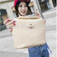 2014 New women handbag fashion brief crocodile pattern shoulder bags women messenger bags women leather handbags leather bags