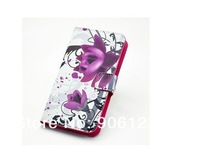 1pcs UK US flag Butterfly Sakura Flower zebra Flip stand card wallet leather bags case skin cover For Sony Xperia M2 S50H