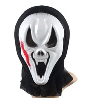 New pattern white Halloween screaming face monolithic devil terror Protest mask
