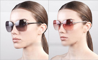 Manufacturers selling detonation sunglass female tide trimming frameless bowknot fashion brand glasses sunglasses