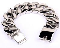Huge&Heavy Bracelet Bangle Polish Mens Biker Chain Stainless Steel Gift for Him