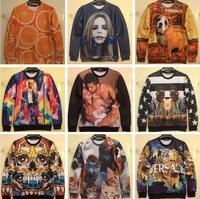 Women/Men's Fashion Pullover 3D Sweatshirts Animal Printed Sport Sweatshirt Tops,S-XL,Free Shipping