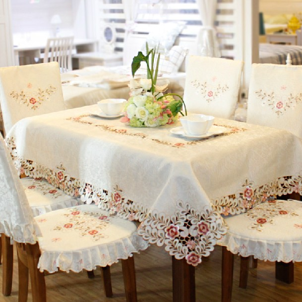 European-style garden Embroidered Tablecloth Seat Covers cushion Wedding tablecloth(China (Mainland))