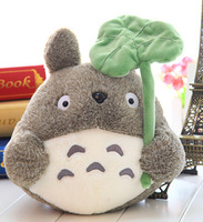 Super lovely 1pc 20cm mini cartoon anime lotus leaf totoro cute creative plush little doll stuffed toy children girl prize gift