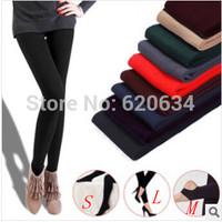 Wholesale New Leggings for Women Casual Warm Winter Faux Velet Knitted Thick Slim Leggings Super Elastic Pantyhose WL002N