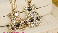 Hot elephant cross the butterfly bear leopard Pattern choker statement necklace pendant & necklace lady women jewelry JZ151