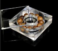 Free Shipping 3pcs/lot 11.5x11.5x3.3cm Organic glass Bracelet Display Boxes High Quality Prayer Beads Boxes Gift Packaing