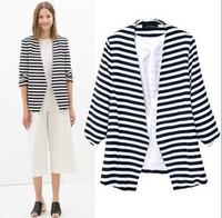 Hot sale Casual Fashion Women Striped  Tops Cardigan coat  Jacket#5685