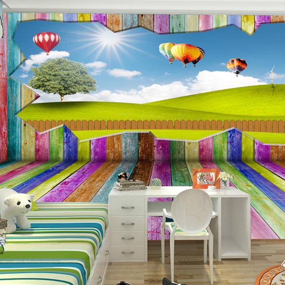 Large mural 3d cartoon scenic wallpaper cartoon background for Cartoon mural wallpaper