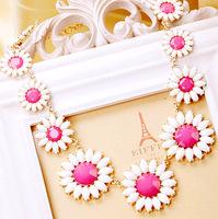 Summer Daisy Crystal Flower fashion trend necklaces & pendants lady women jewelry  JZ129