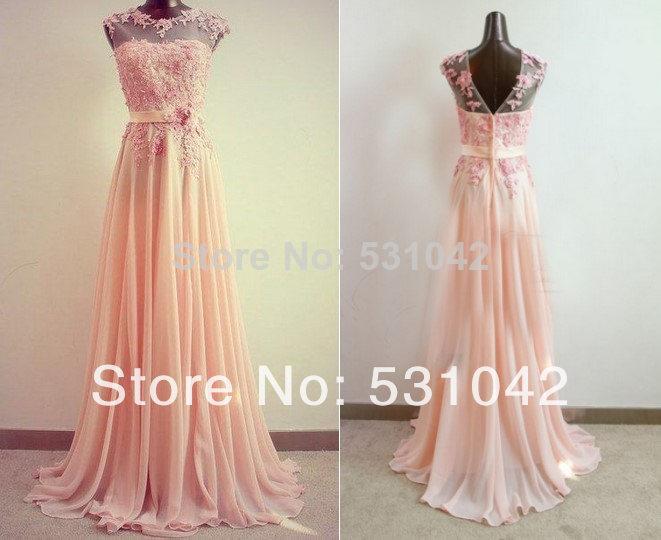 Lace Cap Sleeve Bridesmaid Dresses Floor Length