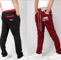 2014 autumn jogger pants,Letter printed harem pants,Mixed colors men's dance pants,hip-hop casual sweatpants for men,111,28-35