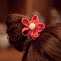 Korean Fashion Hairband Zipper Edge Flower Hair Band Rope Elastic Holder New