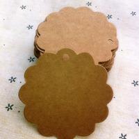 S604 6*6cm Antique Kraft Paper Flower Gift Cards/Tags for Wedding Decoration/DIY Card Making/Scrapbooking Paper Crafts